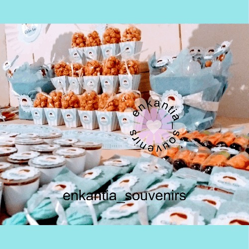 Mesa de dulces 80 personas bautizo comunion bodas xv - Como hacer centros de mesa con dulces para bautizo ...