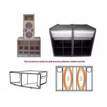 Planos Acusticos Bafles Miniteca Turbo Sound Cerwin Vega Rcf