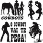 Adesivo Decorativo Casal Country Cowboy P/ Carro, Casa, Etc.