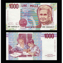 Billete Italia 1000 Liras (maria Montessori)