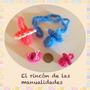 Mini Chupete Y Escarpines Crochet, Ideal Souvenirs.