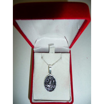Dije Simbolos Buena Suerte Medalla Pavoneado Plata Ley .925