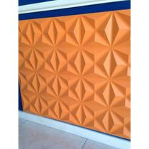 Molde Forma Silicone Gesso Placa Parede 3d 39x39cm Piramides