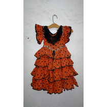 Vestido Antiguo Para Niña Para Baile Flamenco Años 40
