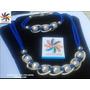 Juego Collar + Pulsera Moda - Cordón- Cuero - Perla - Cadena