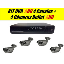 Kit 4 Bullet Ahd Mas Dvr 4 Canales Ahd H.264