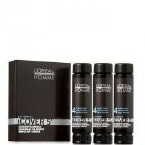 Loreal Homme Cover 5 Tintura Castanho Nº4 - 3x50ml + Brinde