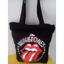 Bolsa De Tecido ( Tipo Sacola ) Rolling Stones