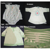 3 X 1 Jumpers,vestido,blusa Talla 6meses Carters Old Navy