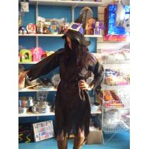 Disfraz Bruja Vestido Y Gorro Talle Adulto Mediano Halloween