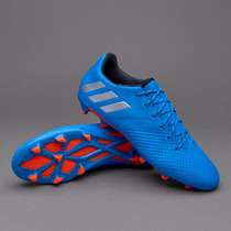 Taco Messi 16.3 Firm Azul Plata 2016
