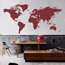 Sticker De Vinilo Mapa Mundial