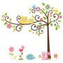 Adesivo Decorativo Parede Infantil Bebê Àrvore Coruja Safari