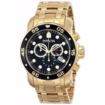 Relógio Invicta Pro Diver 0072 Dourado Masculino