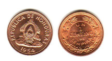 Moneda De Honduras 1 Centavo Año 1954 Sin Circular 159 40 En Mercado Libre