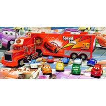Disney Cars Coleçaõ Relâmpago Mcqueen Caminhão Mack 10carros