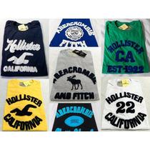 Kit 5 Camisa Masculina Hollister, Aeropostale, Abercrombie