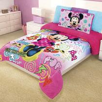 Cobertor Matrimonial Infantil Minnie Pop Reverso Borrega