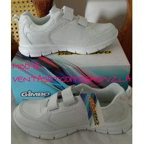 Zapatos Blancos Deportivos Unisex Escolares