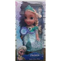 Frozen Muñeca De 34 Cm Canta Y Prende Luces Vestido Mágico