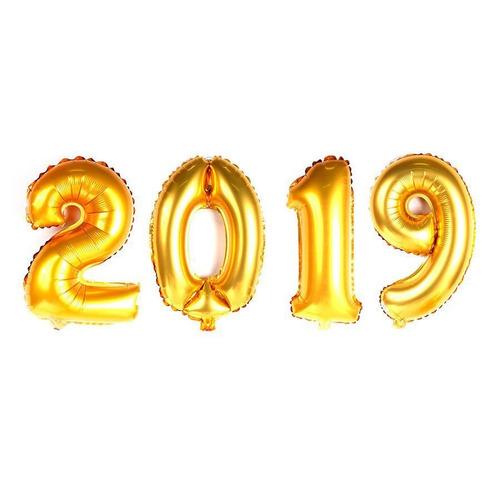 Kit Balão Metalizado Dourado 2019 - 40cm - R  25,90 em Mercado Livre 2704bc6875