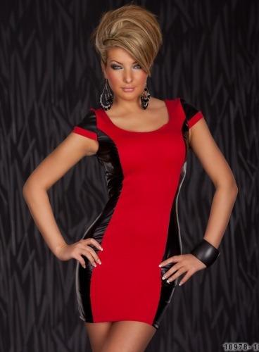 Vestidos con rojo y negro