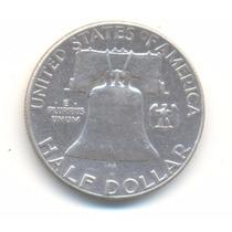Moneda Medio Dolar 1951 Plata Excelente