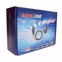 Adaptador Usb 2.0 Hd Conversor P/ Ide Sata Fonte 3 Em 1