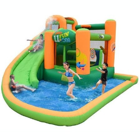 Juego Inflable Brincolin Eventos Fiestas Con Agua 25 499 00 En