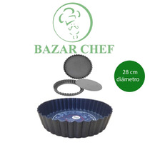 Tartera Desmontable Antiadherente 28 Cm - Bazar Chef
