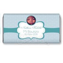 Etiqueta Para Chocolate Impresa - Recuerdo Bautizo Baby Show