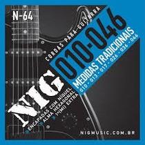 Encordoamento Nig Para Guitarra N-64 .010-.046 + 1º Mi Extra