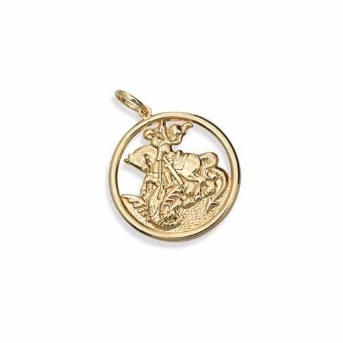 8b2cf4746cfa5 Pingente Masculino São Jorge Medalha Média E Vazada Rommanel - R  141,00 em  Mercado Livre