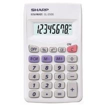 Paquete 5 Calculadoras De Bolsillo 8 Dígitos Sharp El-233sb