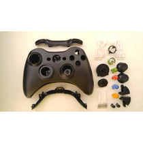 Carcaça Controle Preto Xbox 360 Completa