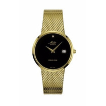 Relógio Masculino Mido Dourado Slim Ocean Star C/ Brilhante
