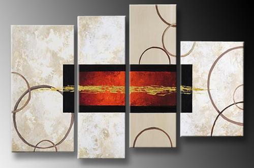 Cuadros Modernos Abstractos Tripticos Dipticos Texturados 2 250