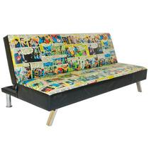 Sofá-cama Dc Comics Quadrinhos Coloridos Em Madeira E Pvc