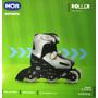 Patins Roller Infantil 3 Rodas Ajustável 31 Ao 34 Cinza Mor