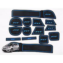 Honda New Fit Tapete Azul Interno Borracha Acessorios Painel