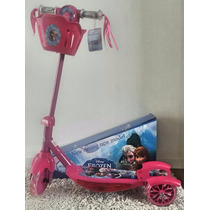 Patinet Infantil 3rodas Frozen Luz Musical Scooter