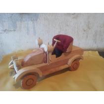 Kit 10 Carros De Madeira Miniatura - Frete Grátis