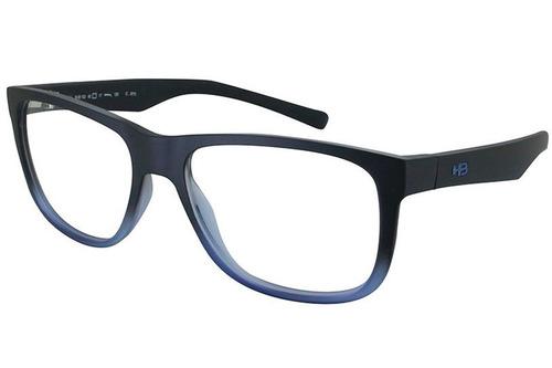 c8bd28e6d Óculos De Grau Hb Ozzie Teen 93132/55 Preto/azul Fosco - R$ 259,89 ...
