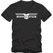 Rammstein Camiseta Tradicional T-shirt Algodão 30.1 Silk