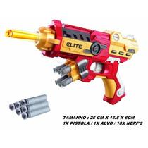 Arma Brinquedo Pistola Nerf Dardo Homem De Ferro Vingadores