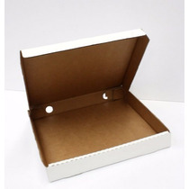 Caja Para Pizza 32x32x4cms Carton Microcorrugado Blanca