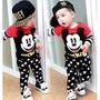 Conjunto Criança Manga Longa Menino Infantil Mickey 1 Ano
