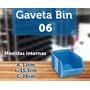 Gaveta Plástica Azul Nº6 Bin