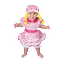 Disfraz Carnavalito Muñeca De Trapo Bebe Talla 18-24
