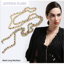 Collar Exclusivo Con Cristales Swarovski Y Baño Oro 14k